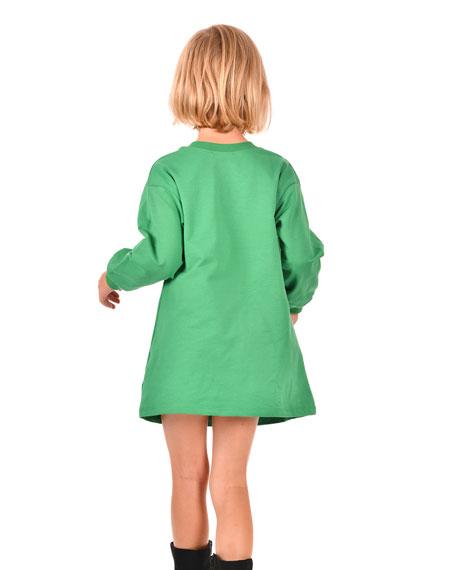 Hannah Banana Girl's Amore Long-Sleeve T-Shirt Dress, Size 4-6X