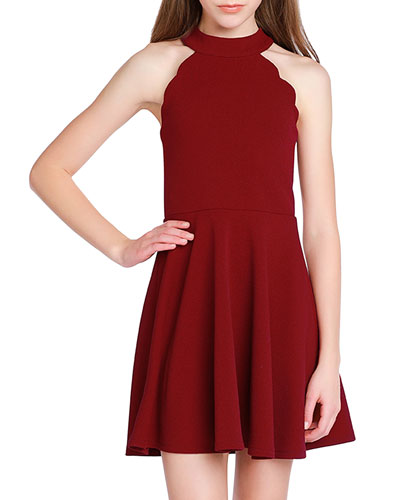 Girl's The Isabella Halter Dress, Size S-XL