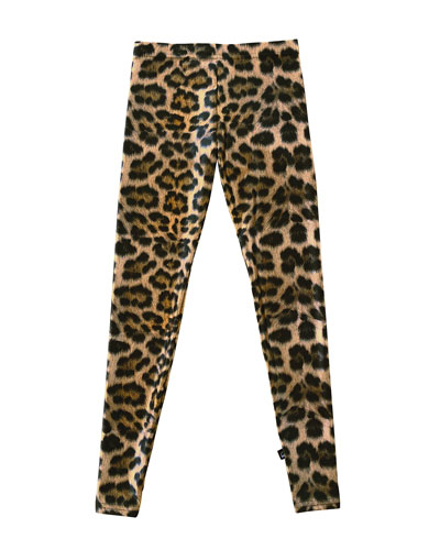 Girl's Leopard Print Leggings  Size S-XL