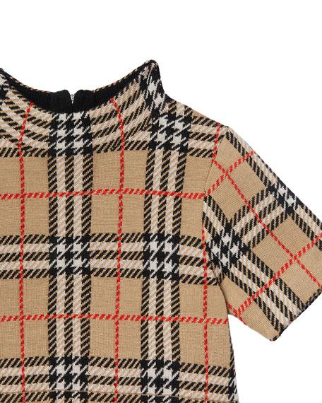 Burberry Girl's Denise Jacquard Check Turtleneck Dress, Size 3-14