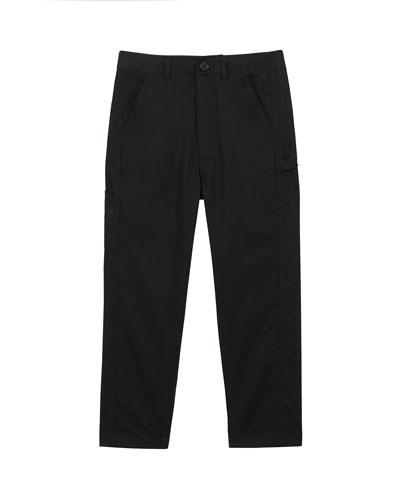 Boy's Trousers w/ Logo Patch, Size 3-14