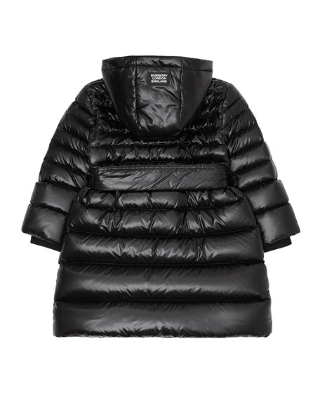 Burberry Girl's Sharona Long Puffer Coat, Size 3-14
