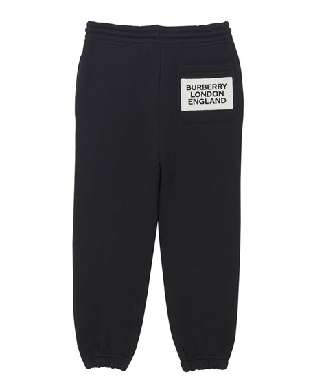 Burberry Boy's Luther Jogger Pants w/ Logo Patch, Size 3-14
