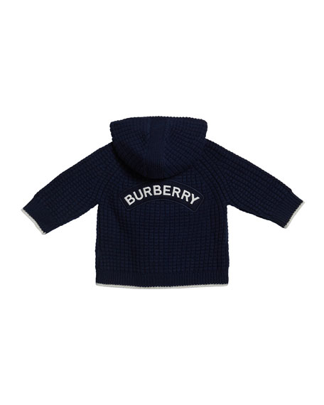 Image 2 of 2: Boy's Knit Teddy Bear Jacket, Size 3-18 Months