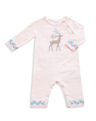Deer Intarsia Cotton Coverall  Size 0-12 Months