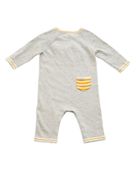 Angel Dear Lion Intarsia Cotton Coverall, Size 0-12 Months