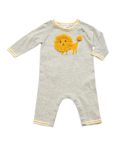 Lion Intarsia Cotton Coverall  Size 0-12 Months