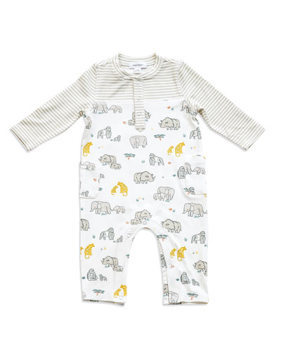 End Species Printed Coverall  Size 0-12 Months