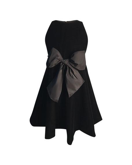 Helena Girl's Sleeveless Velvet Bow Dress, Size 2-6