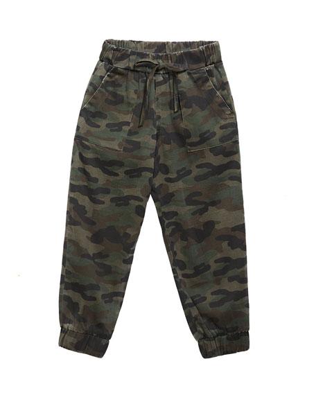 Bella Dahl Girl's Camo Jogger Pants, Size 8-14