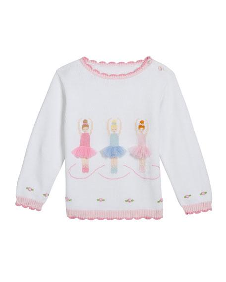 Zubels Girl's Ballerina Intarsia Sweater, Size 12M-7