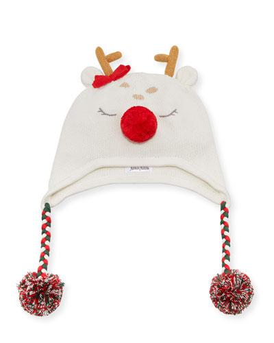 Reindeer Beanie Hat, Size 12M - 4T