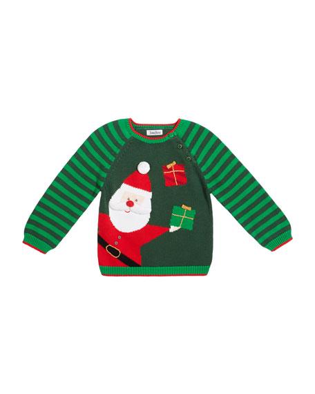 Zubels Boy's Santa Holiday Intarsia Sweater, Size 12M-7