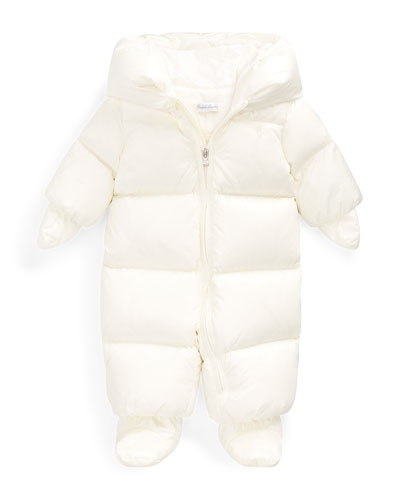 Girl's Down Snowsuit Bunting  Size 3-9 Months