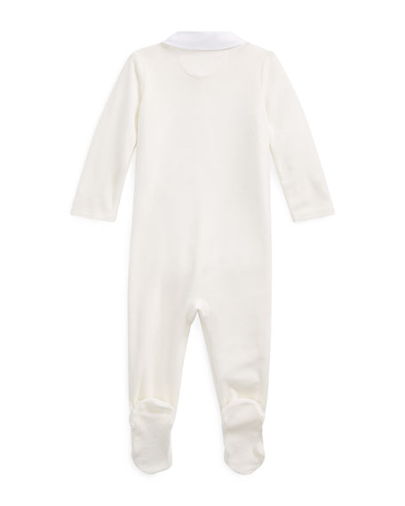 Ralph Lauren Childrenswear Boy's Velour Footed Coverall, Size 3-9 Months