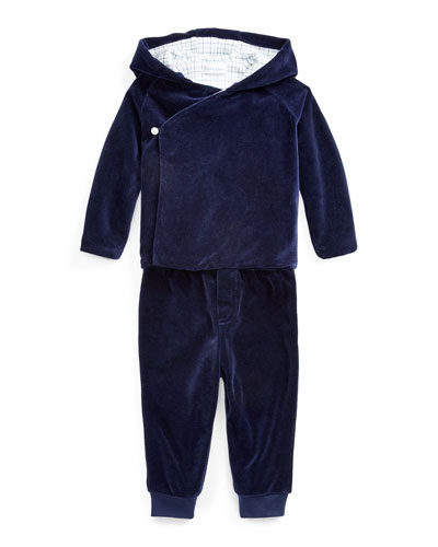 Boy's Velour Wrap Jacket w/ Matching Pants, Size 6-24 Months