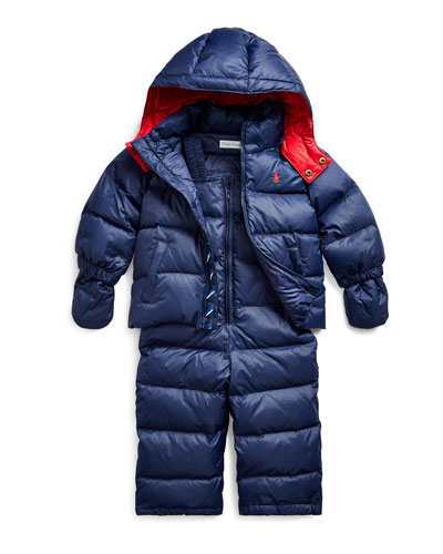 Boy's Snow Overalls w/ Matching Jacket  Size 12-24 Months