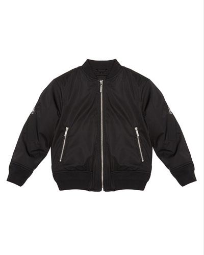 Boy's Bomber Jacket w/ Logo Taping  Size 6-16