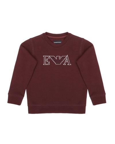 Boy's Eagle Embroidered Sweatshirt  Size 4-16