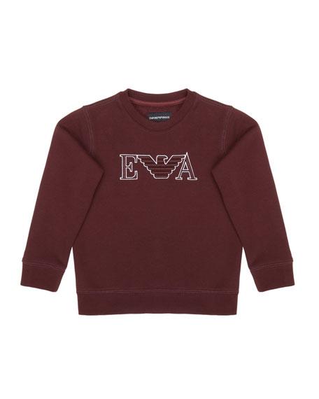 Emporio Armani Boy's Eagle Embroidered Sweatshirt, Size 4-16