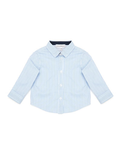 Boy's Pinstripe Button Down Shirt  Size 6-36 Months