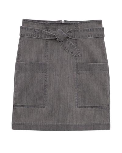 Girls' High-Waist Paperbag Skirt  Size 7-16