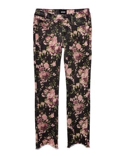 Girls' Dixie Floral-Print Skinny Jeans  Size 7-16