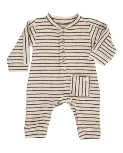 Boy's Striped Jersey Coverall w/ Children's Book, Size 0-24 Months