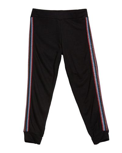 Girl's Sweatpants w/ Metallic Taping  Size S-XL