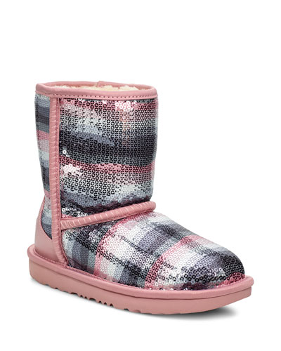 Classic II Rainbow Printed Sequin Boots  Toddler/Kids