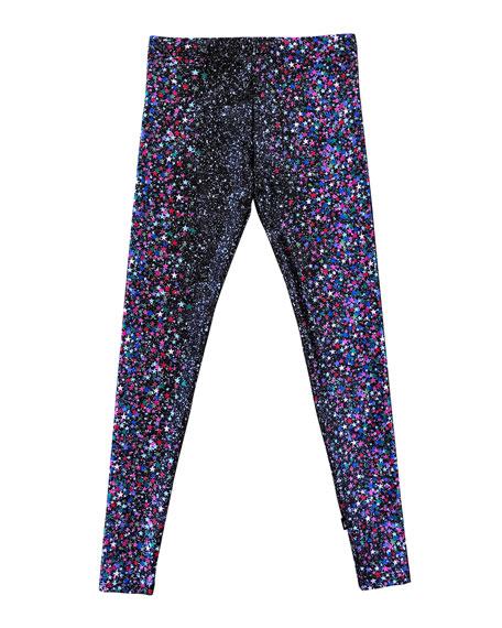 Terez Girl's Glitter Dreams Leggings, Size 7-16