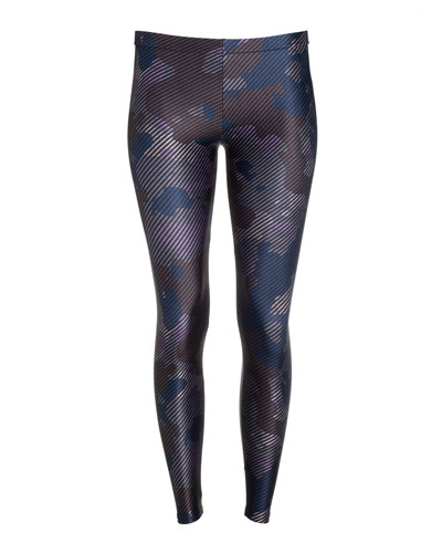 Girl's Striped Camo Print Leggings  Size 7-16