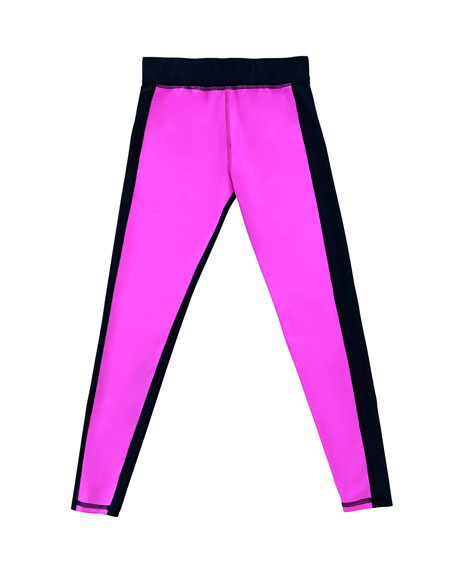 Terez Girl's Colorblock Leggings, Size 7-16