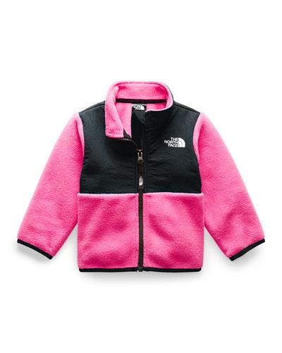 Girl's Denali Two-Tone Fleece Jacket, Size 6-24 Months