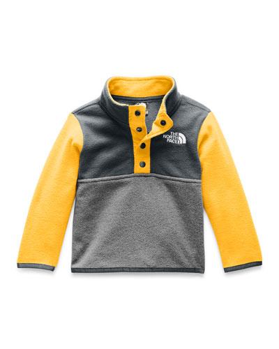 Boy's Glacier Colorblock Snap Front Pullover Jacket, Size 6-24 Months