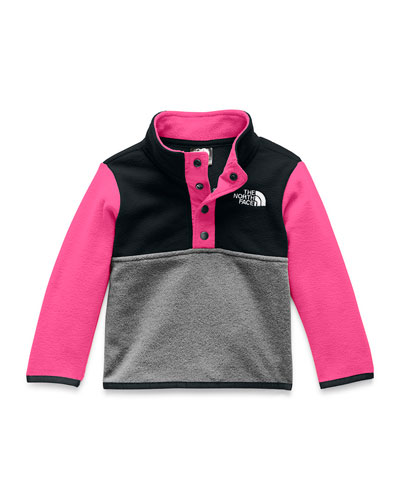 Girl's Glacier Colorblock Snap Front Pullover Jacket, Size 6-24 Months