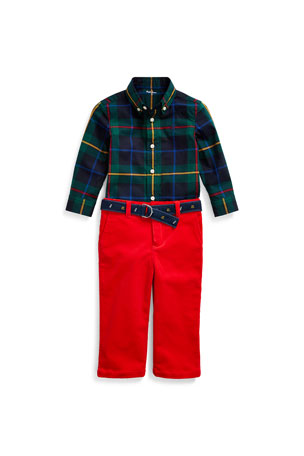 Toddler Kids Baby Boys Printed Plaid Tops Shirt Long Sleeve T-shirt Clothes 1-7T