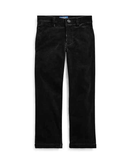 Ralph Lauren Childrenswear Boy's Stretch Corduroy Slim Fit Pants, Size 2-4
