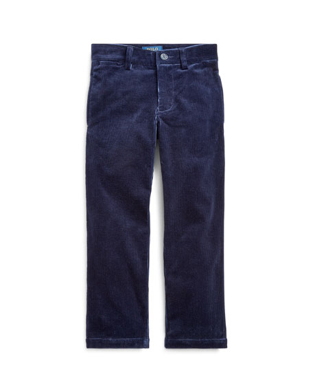 Ralph Lauren Childrenswear Boy's Stretch Corduroy Slim Fit Pants, Size 2-4