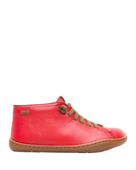 Camper Lace-Up Mid-Top Leather Boots, Toddler/Kids