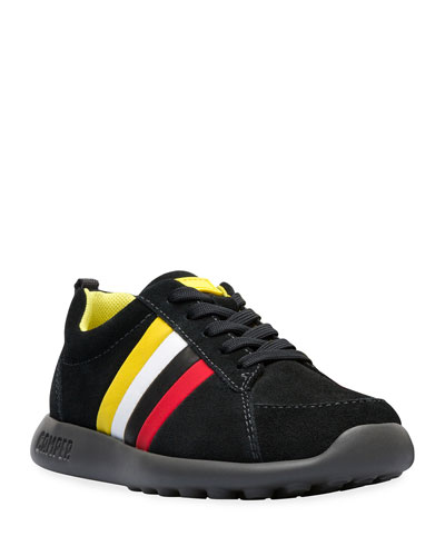 Suede Sneakers w/ Multicolored Leather Sides  Toddler/Kids
