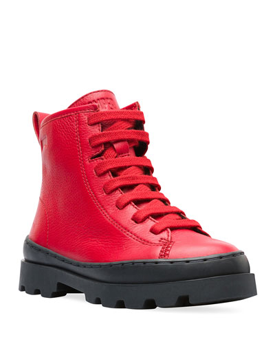 High-Top Leather Boots  Toddler/Kids