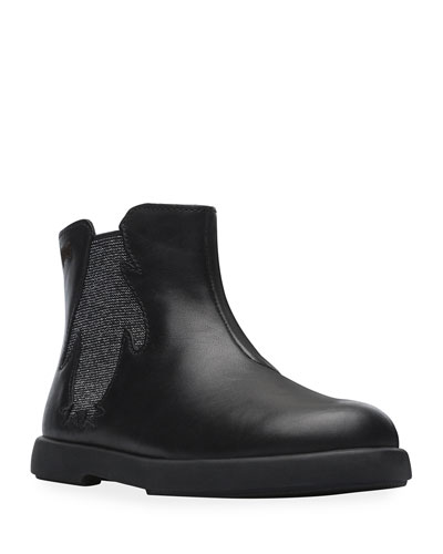Smooth Leather Boots w/ Lurex Insert  Toddler/Kids