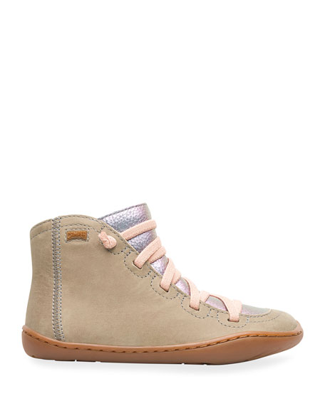 Camper High-Top Mixed Leather & Suede Boots, Toddler/Kids