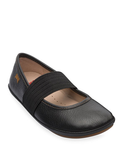 Leather Elastic Band Flats  Toddler/Kids