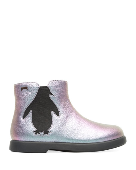 Camper Iridescent Leather Boots, Toddler/Kids