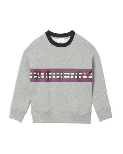 Boy's Marlon Logo Stripe Sweatshirt  Size 3-14