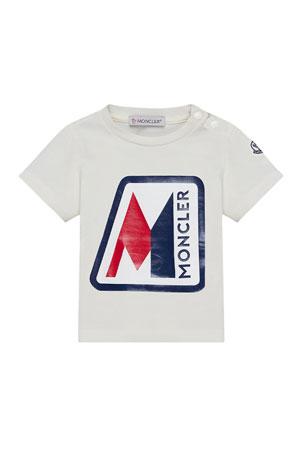 Moncler Short-Sleeve Logo Graphic T-Shirt, Size 6 months-3