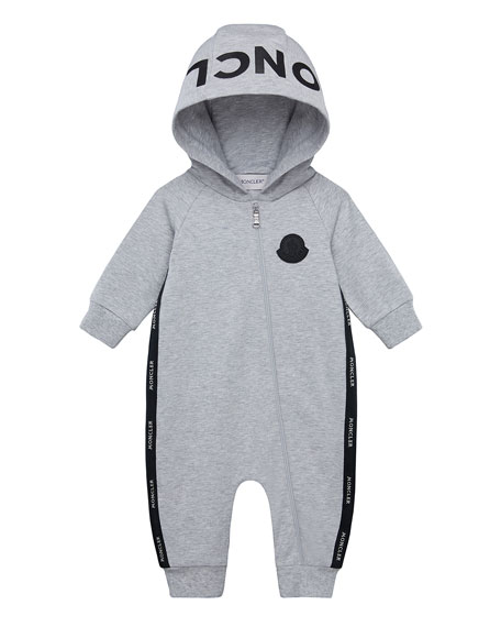 Moncler Boy's Logo Hooded Coverall, Size 3-18 Months