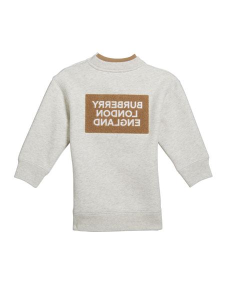 Burberry Girl's Fabbio Sweatshirt w/ Logo Patches, Size 3-14